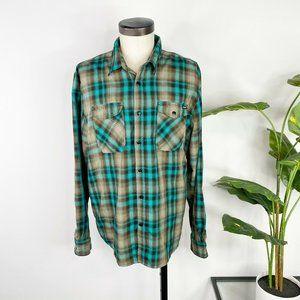 Volcom Workwear Mens Long Sleeve Plaid Shirt Large